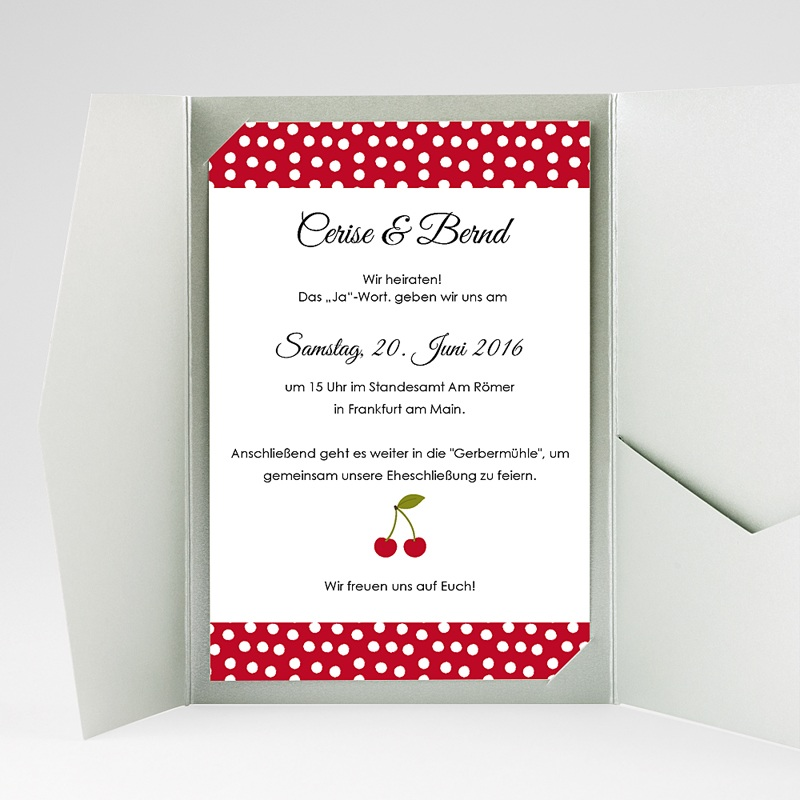 Hochzeitskarten Querformat Kirschernte gratuit