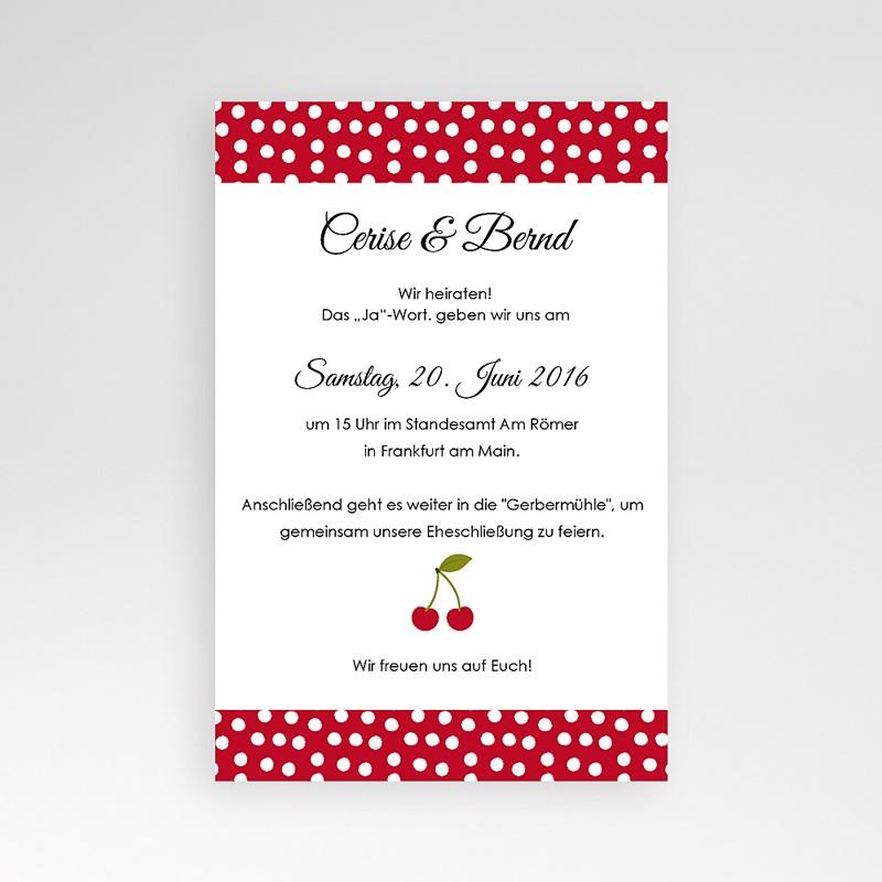 Hochzeitskarten Querformat Kirschernte