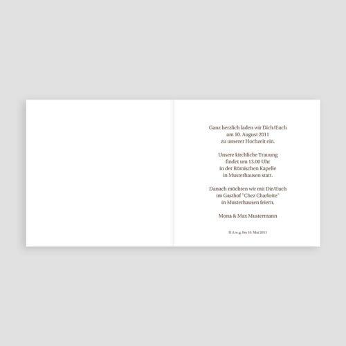 Einladungskarten Hochzeit  - Orchideen 3981 thumb
