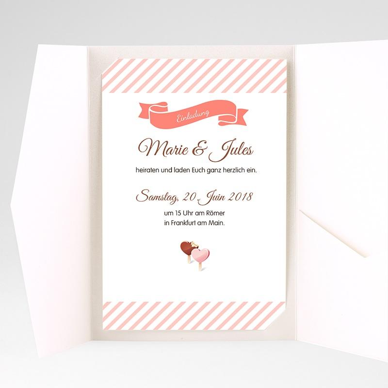 Hochzeitskarten Querformat Sweet pas cher