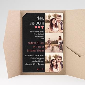 Hochzeitskarten Querformat - Klar