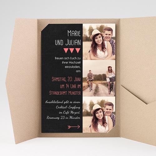 Hochzeitskarten Querformat - Klar 39817 preview