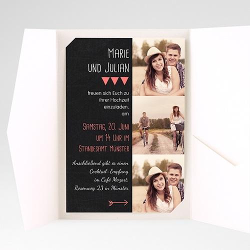 Hochzeitskarten Querformat - Klar 39818 preview