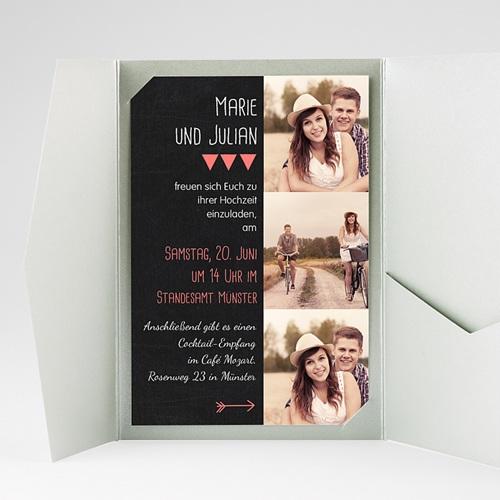 Hochzeitskarten Querformat - Klar 39819 preview