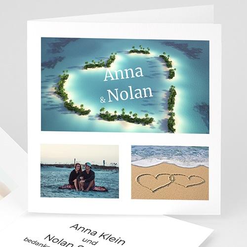 Hochzeitseinladungen modern - Hochzeitsreise 3984