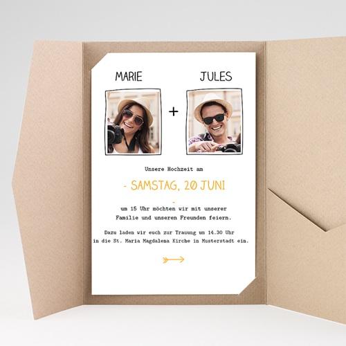 Hochzeitskarten Querformat - Herzlich 39841 preview