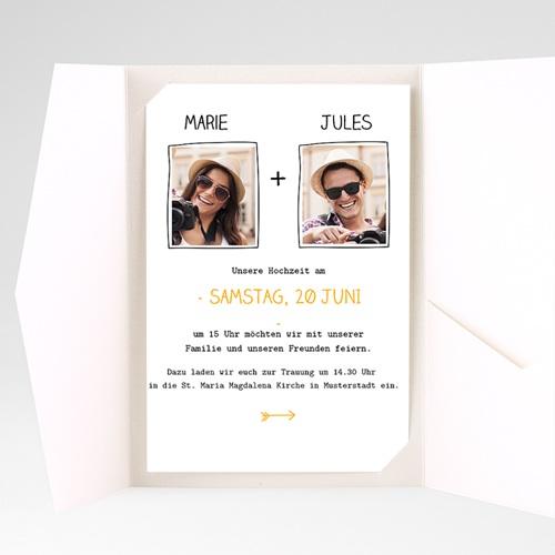 Hochzeitskarten Querformat - Herzlich 39842 preview