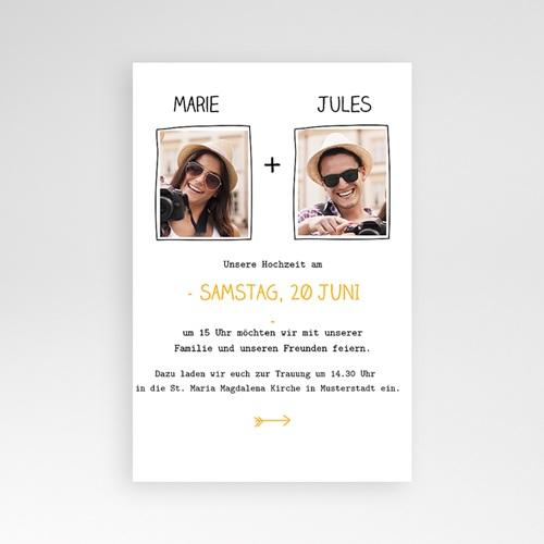 Hochzeitskarten Querformat - Herzlich 39844 preview