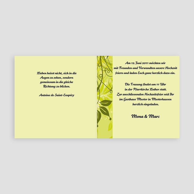 Einladungskarten hochzeit fruehling gruen - Hochzeitseinladung text modern ...