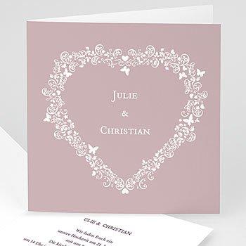 Hochzeitskarten Vintage  - Hochzeitskarte Herz - 1
