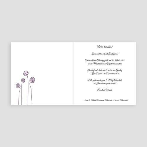 Violett Hochzeitseinladungen Zarte Blumen pas cher
