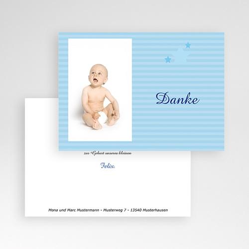 Dankeskarten Geburt für Jungen Kleiner blauer Stern pas cher