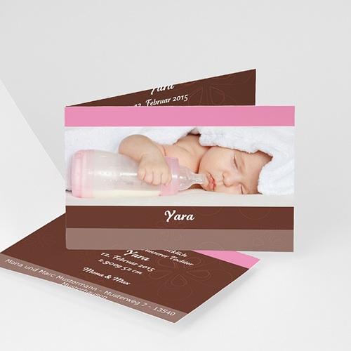 Geburtskarten für Mädchen - Rose und Schokolade 4020