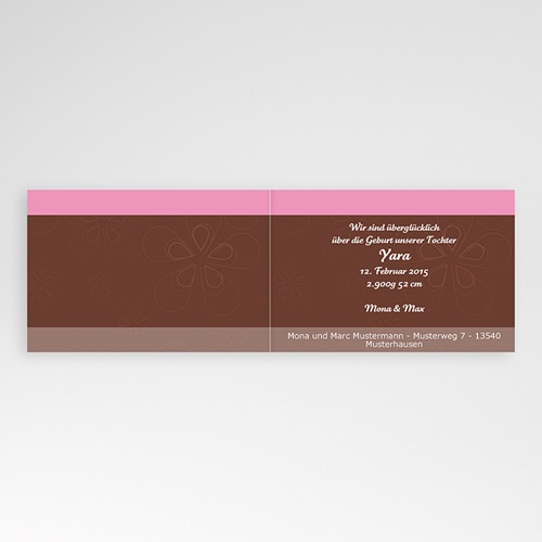 Geburtskarten für Mädchen - Rose und Schokolade 4021 preview
