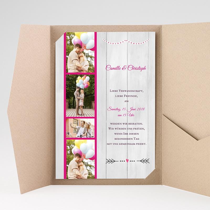 Hochzeitskarten Querformat Vermählung