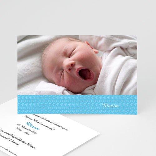 Babykarten für Jungen - Blümchenmuster 4026
