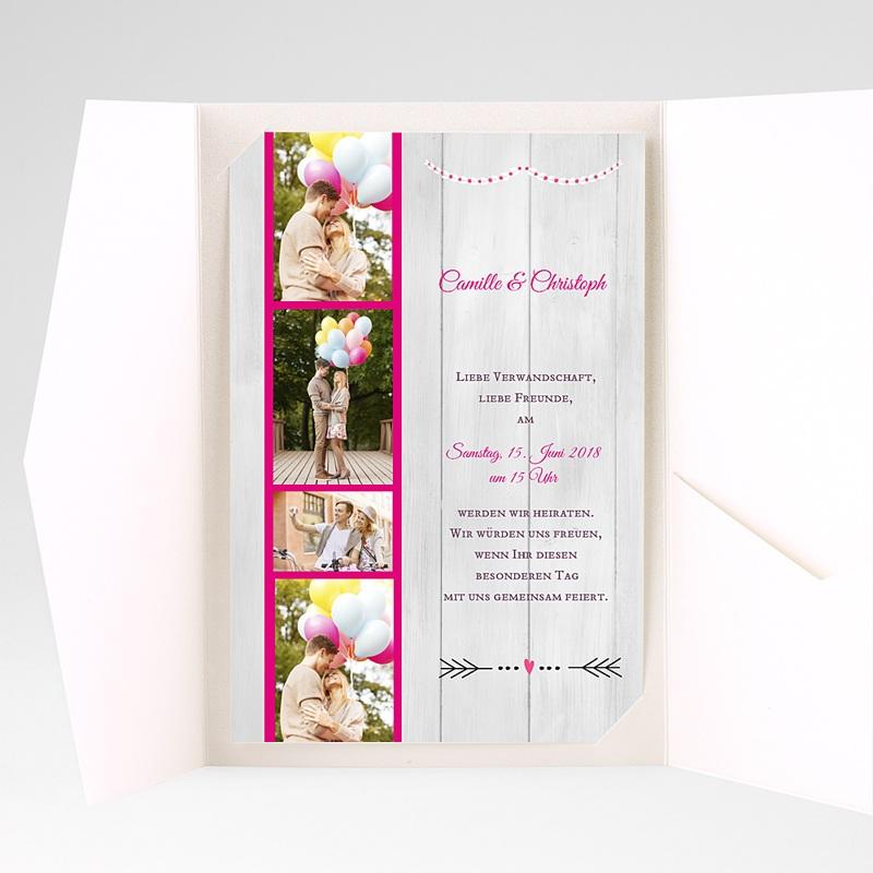 Hochzeitskarten Querformat Vermählung pas cher