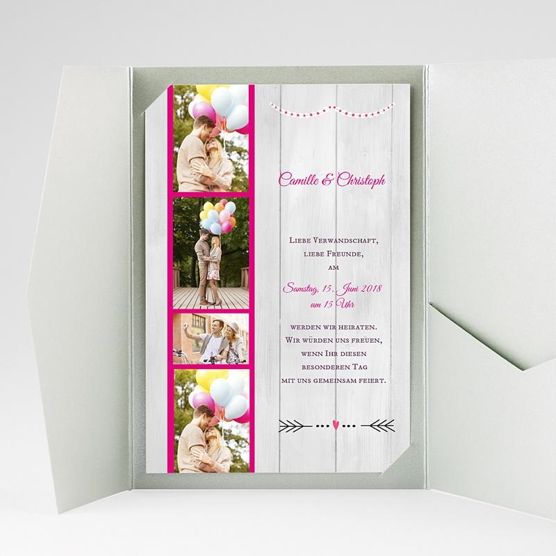 Hochzeitskarten Querformat Vermählung gratuit