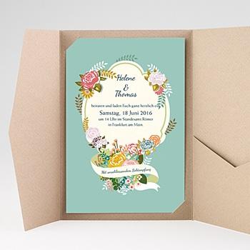 Hochzeitskarten Querformat - Vintage Romantik - 0