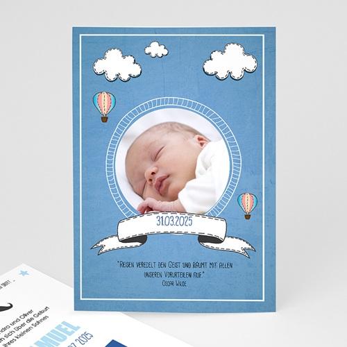 Geburtskarten für Jungen Ballonfahrt