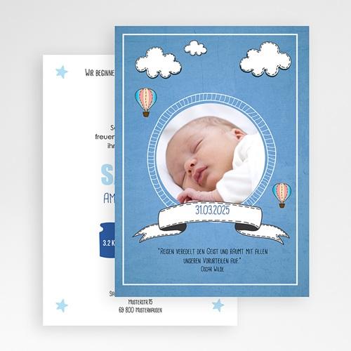 Geburtskarten für Jungen Ballonfahrt gratuit
