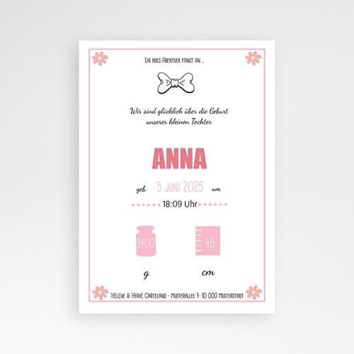 Geburtskarten für Mädchen Heißluftballon Rose pas cher