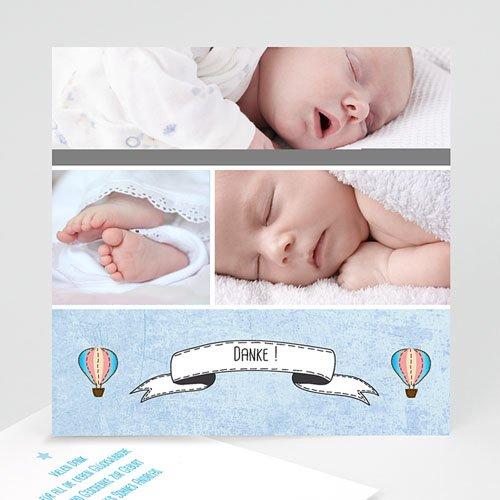 Dankeskarten Geburt Jungen - Ballonfahrt 40343