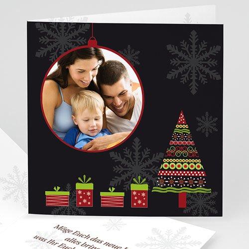 Weihnachtskarten - Weisse Flocken 4042
