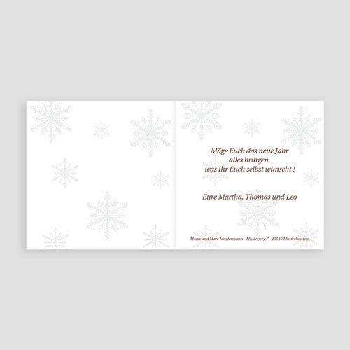 Weihnachtskarten - Weisse Flocken 4043 test