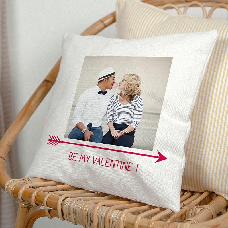 Personalisierte Foto-Kissen Be my valentine