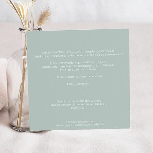 Einladungskarten Kommunion Jungen - Das Haus Gottes  40495 preview
