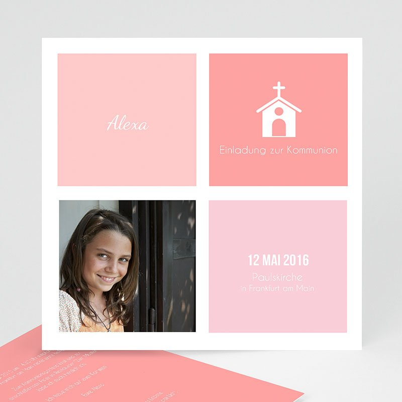 Einladungskarten Kommunion Mädchen Kirche