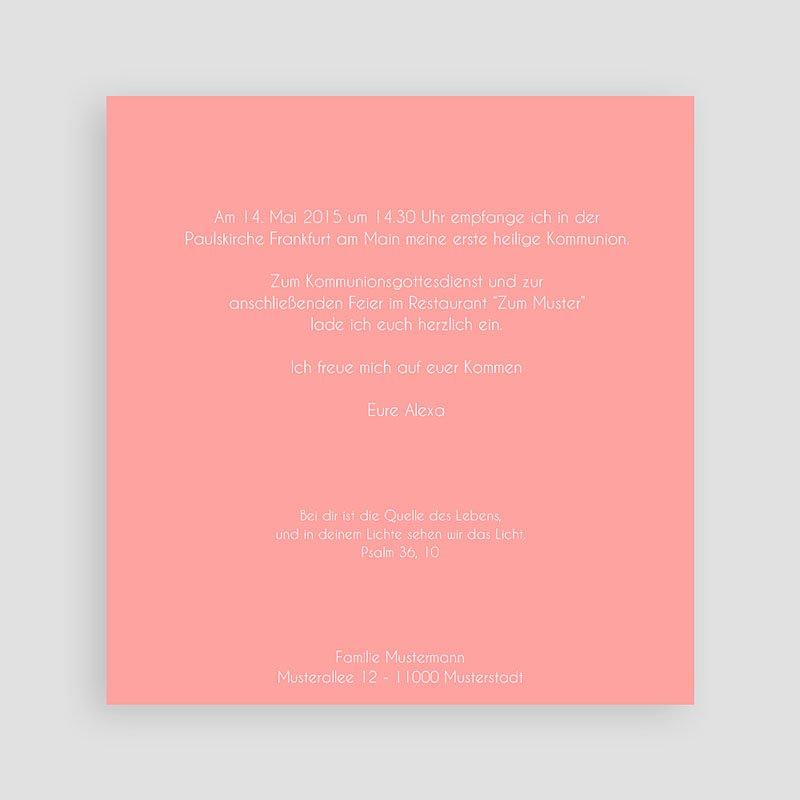 Einladungskarten Kommunion Mädchen Kirche pas cher