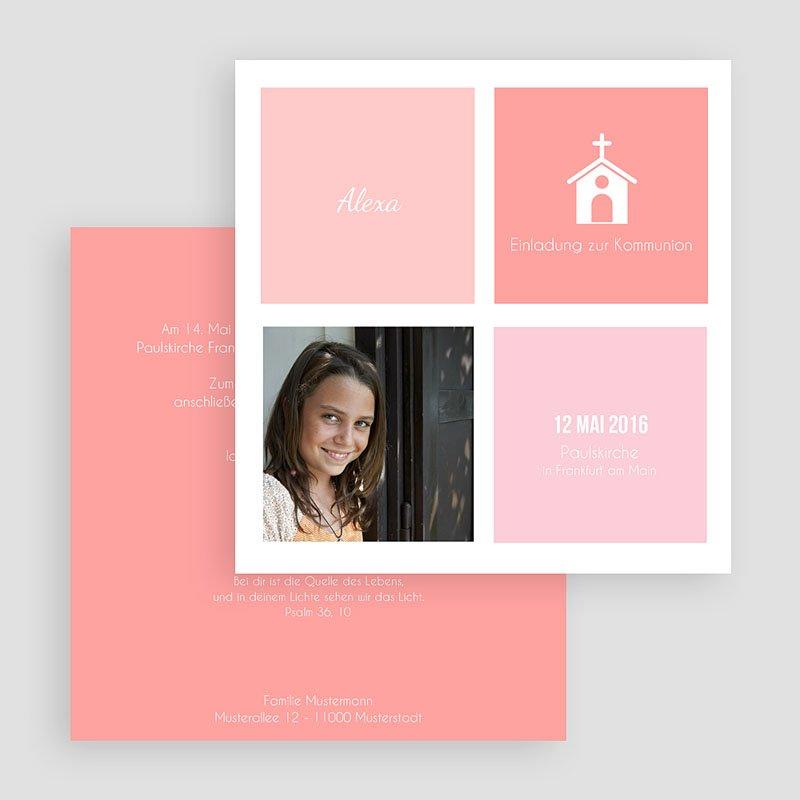 Einladungskarten Kommunion Mädchen Kirche gratuit