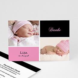 Dankeskarten Geburt Mädchen Alia