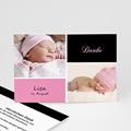 Dankeskarten Geburt für Mädchen Alia