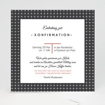 Einladungskarten Konfirmation   Kreuzmotiv   0