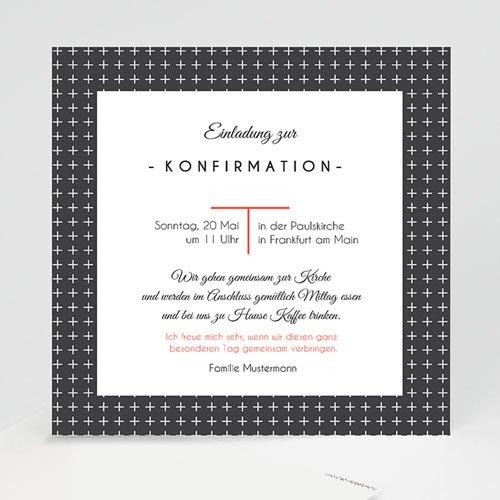 Einladungskarten Konfirmation - Kreuzmotiv 40586