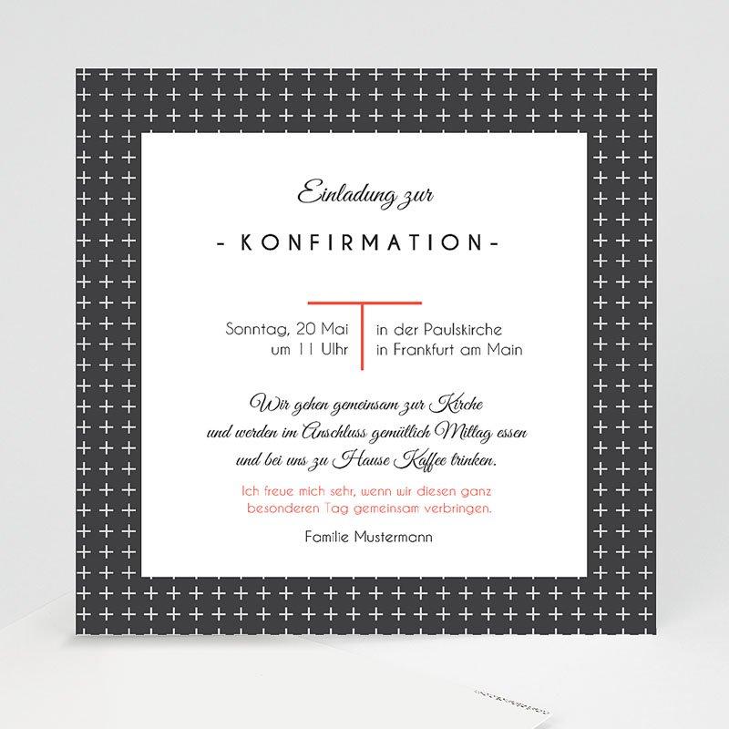 Einladungskarten Konfirmation Kreuzmotiv
