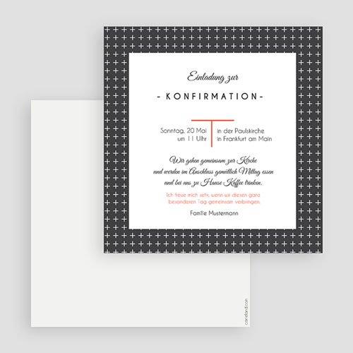 Einladungskarten Konfirmation - Kreuzmotiv 40588 test