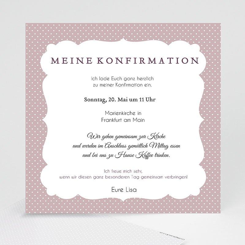 Einladungskarten Konfirmation Eleganz