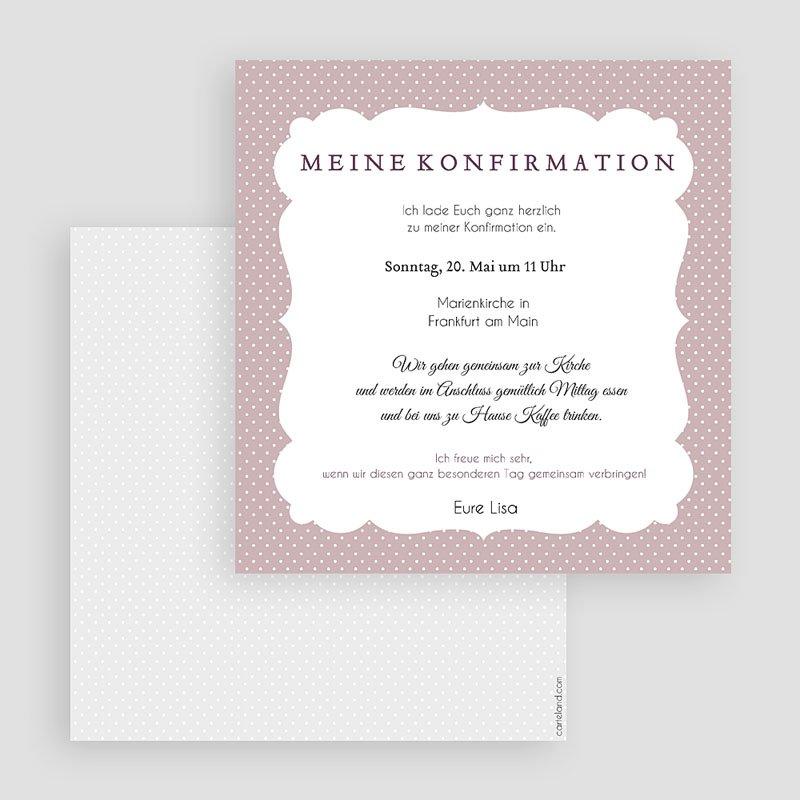 Einladungskarten Konfirmation - Eleganz 40597 thumb