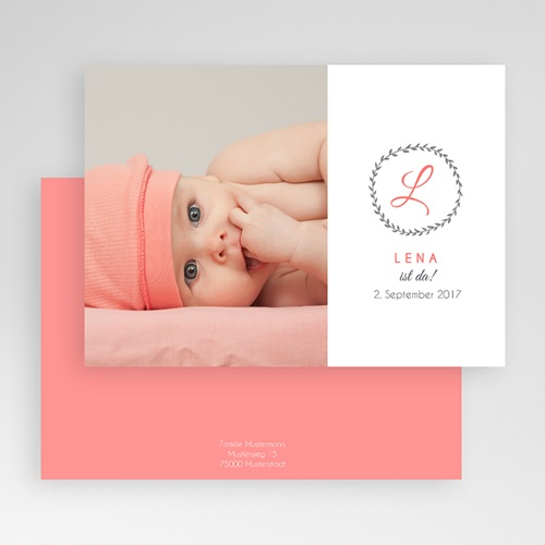 Geburtskarten für Mädchen - Initalien 40644 preview