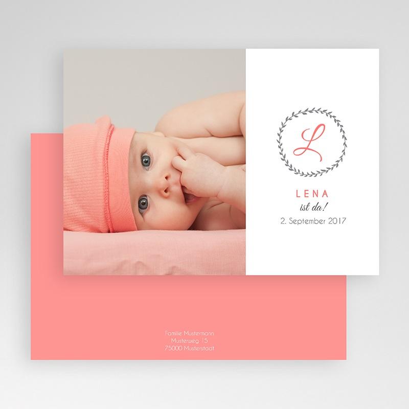 Geburtskarten für Mädchen - Initalien 40644 thumb
