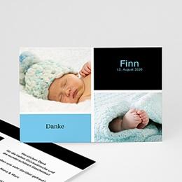 Danksagungskarten Geburt Drei Babyfotos