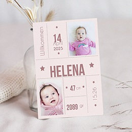 Karten Geburt Rina