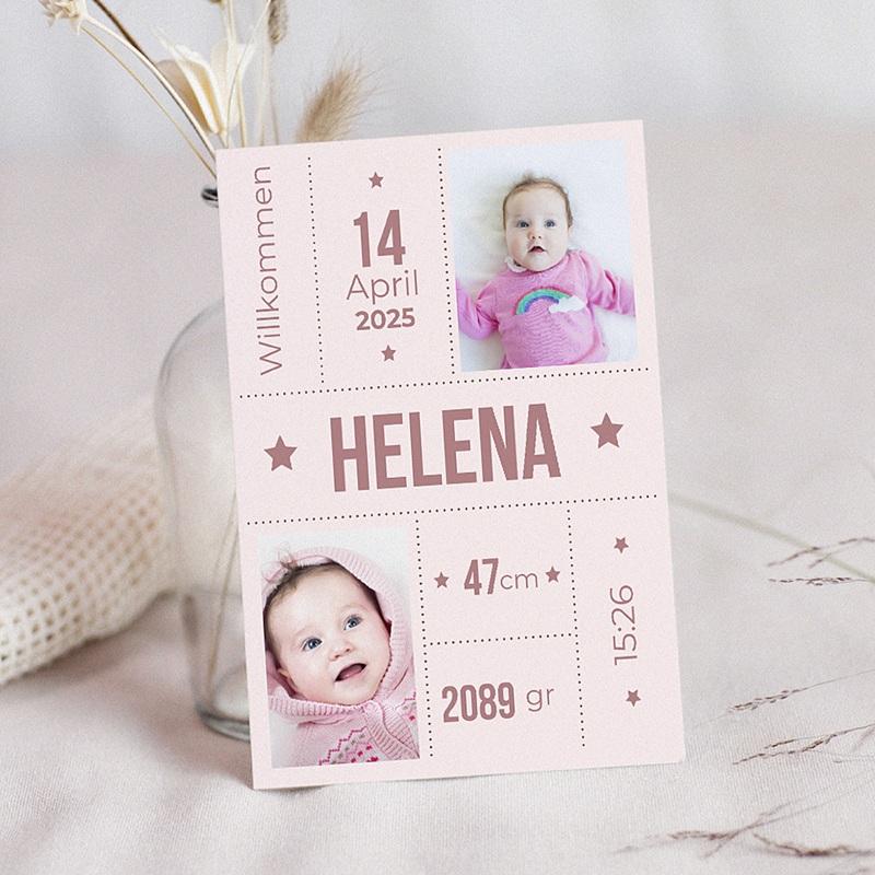 Geburtskarten für Mädchen Rina