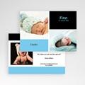 Dankeskarten Geburt für Jungen Drei Babyfotos pas cher