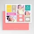 Geburtskarten für Mädchen Bunte Blöcke gratuit