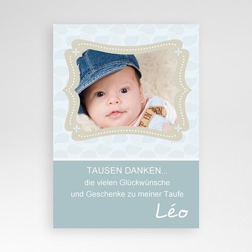 Dankeskarten Taufe Jungen - Matteo 407 test